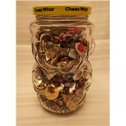 440.  Kraft jar of lapel pins