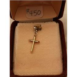 450.  10 KT gold cross