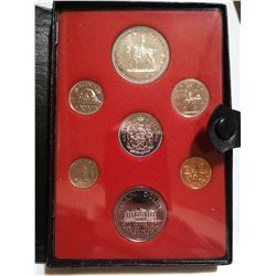 1973 Proof set with silver dollar