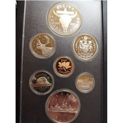 1982 Proof set with silver dollar