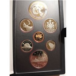 1983 Proof set with silver dollar