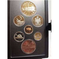1984 Proof set with silver dollar