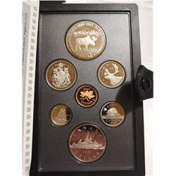 1985 Proof set with silver dollar