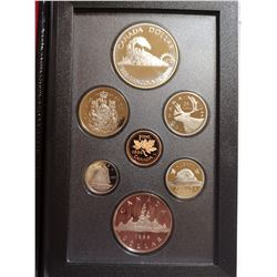 1986 Proof set with silver dollar