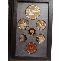 1991 Proof set with silver dollar