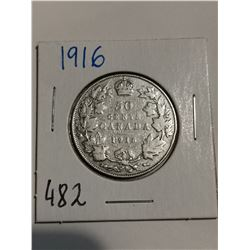 1916 Silver 50 cent coin Canada