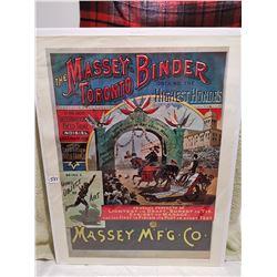 Massey poster 19 X 25, Orchard England print