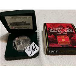 1998 silver RCMP dollar