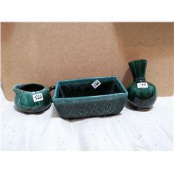 Blue mountain 3 piece stoneware