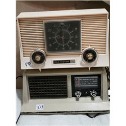 RCA radio (peach) works & other radio as is