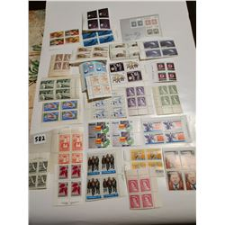 Older 25 unc block of 4 stamps Canada