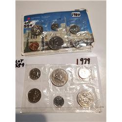 1979 & 180 unc Canada coin sets
