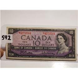 1954 $10 bill Canada