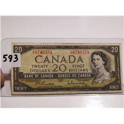 1954 $20 bill Canada