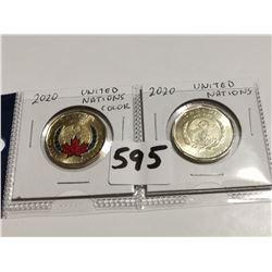 2020 U.N. $1.00 One dollar coins