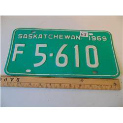 618 1969 FARM TRUCK LICENCE PLATE