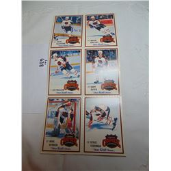 638 BLOCK OF 6 1989-90 WAYNE GRETZKY KRAFT DINNER CAMPBELL CONFERENCE CARDS