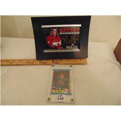 640 JOE SAKIC ROOKIE HOCKEY CARDS, AUTOGRAPHED HALEY WICKENHAUSER PHOTO CARD