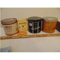 644 TOBACCO TINS & RELATED ITEMS PETER JACKSON, DOMINION POUCH, PICOBAC SWEET CAPORAL