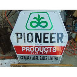"""649 PIONEER SIGN 33.5 X 34"""""""