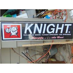 """650 KNIGHT EQUIPMENT SIGN 12"""" BY 48"""""""