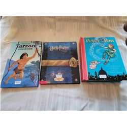 Pop-up books, Tarzan, (1984), Harry Potter, (2002), Peter Pan, (2008)