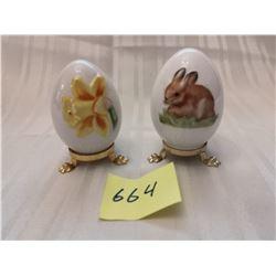 Collector porcelain Gobeil (Hummel) Easter eggs, 1980, 1982