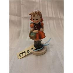 "Gobeil (Hummel) figurine, ""Schoolgirl"", #81, W. Germany, 1960-63"