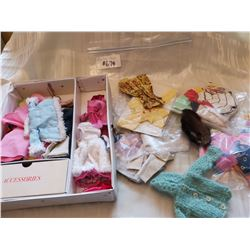 Barbie Case #1002 and lot of Barbie-sized clothing