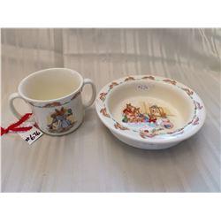 Bunnykins cup and porringer, Royal Doulton