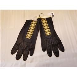 """Kid leather driving gloves, tag reads, """"Hudson Bay, Made in England"""""""