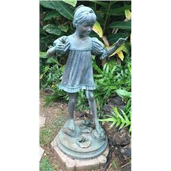 """Adolf Sehring Life-Size Bronze Statue """"Study of an Indian Girl"""" Ltd. Ed. 10 of 12"""