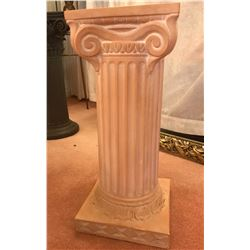 Greek Roman Fluted Column Pedestal 11  x 11  x 24  Tall