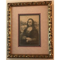 EXTREMELY RARE, ORIGINAL Pencil Drawing on Paper of Mona Lisa by Christian Riese Lassen at AGE 12