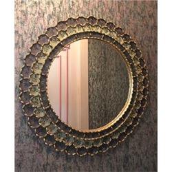 "Custom Wall Mirror, Hand-Made by an Artisan 24"" Dia"