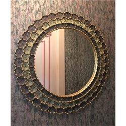 Custom Wall Mirror, Hand-Made by an Artisan 24  Dia