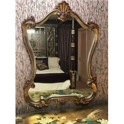 Ornate Gilt Mirror 26'' x 36''