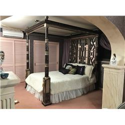 VERY RARE High-End, Hand-Made Canopy Bed (was obtained for the master bedroom of $13M mansion) Queen