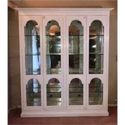 Handmade Solid Mahogany China Cabinet 60  x 16.5  x 81 H