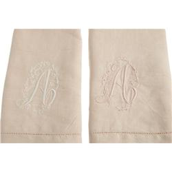 Ava Gardner Owned Monogrammed Linen Finger Towels.