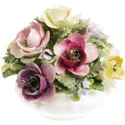 Ava Gardner Decorative Porcelain Flower Arrangement.