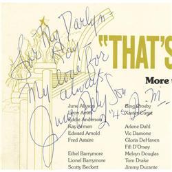 "June Allyson Signed ""That's Entertainment"" Program."