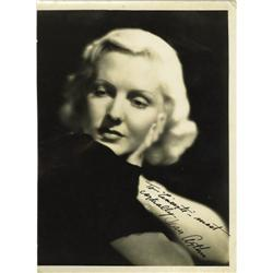 Jean Arthur Autographed Portrait.