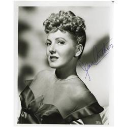 Jean Arthur Signed Photo.