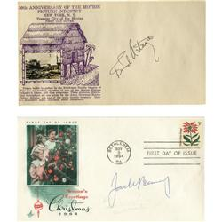 Fred Astaire and Jack Benny Signed Envelopes.