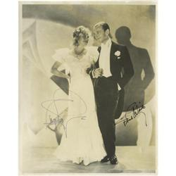 Signed Photo of Fred Astaire and Ginger Rogers.