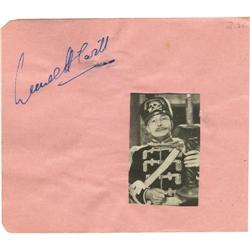 Lionel Atwill Autographed Album Page.