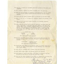 Clifton Webb Signed Contract.