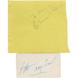 Orson Welles and Peter Lawford Autographs.