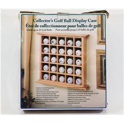 Collectors Golf Ball Display Case